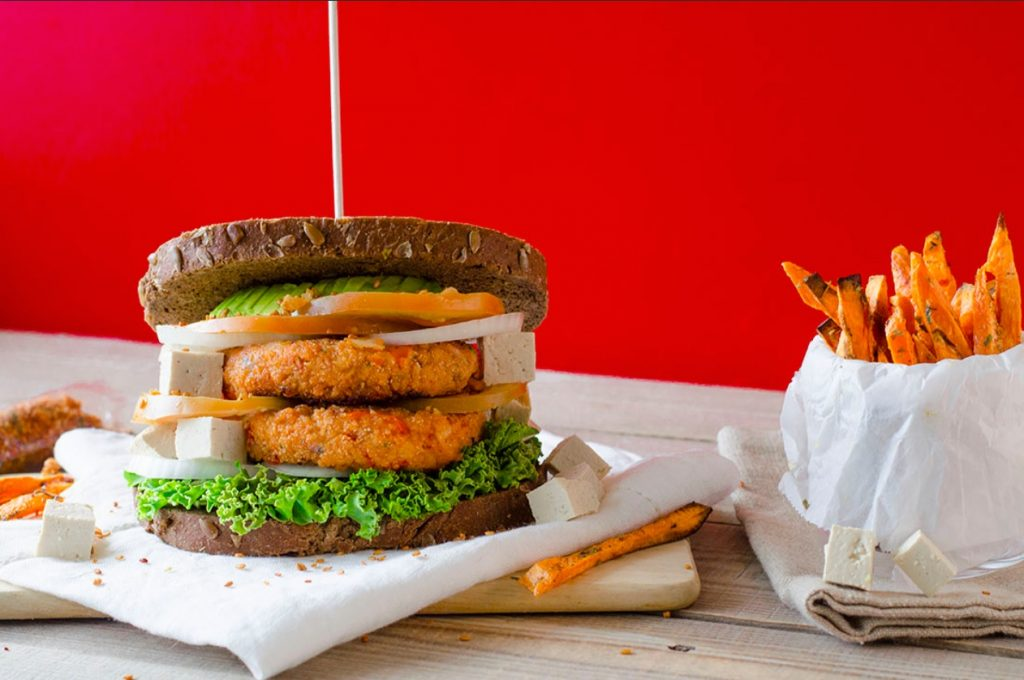 hamburguesa soja texturizada